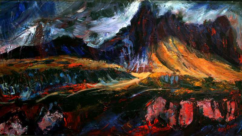 10 Stac Pollaidh, Assynt, NW Scotland (88 x 53 cm, Acrylic on canvas board) (SOLD)