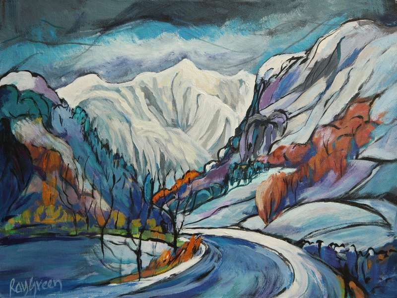49 Winter road through Lake District (SOLD)