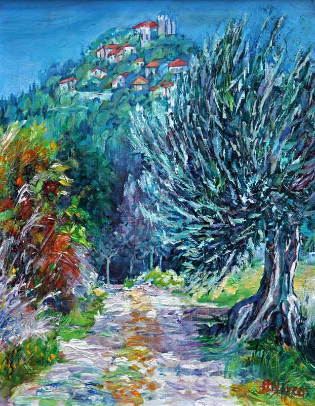 99 Old Tuscany Lane. (Acrylic on Board) (SOLD)