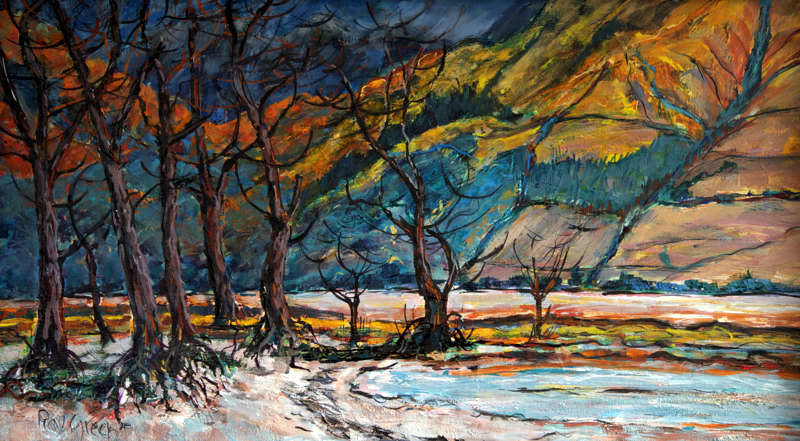 100 Loch Shiel Sunset (Acrylic on canvas board, 89 x 52cm) (SOLD)