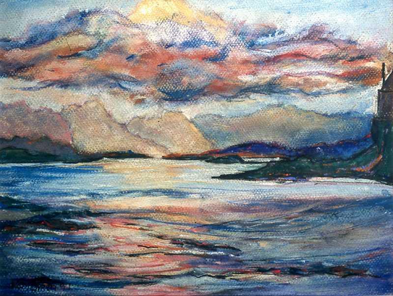 45. Scottish island sea view