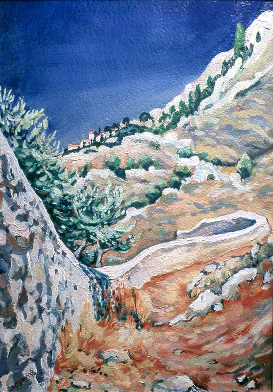 47. Greek island view