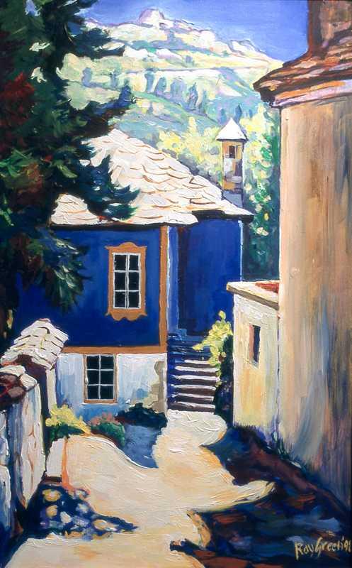 59. Blue house, Greek island
