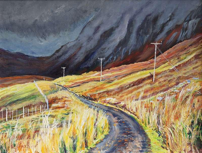 123 Old Scottish road (Acrylic on canvas board, 77 x 61cm, framed)